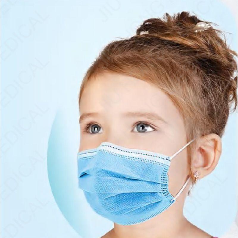 Дети Одноразовая 3-слойная безопасность Маска на склад Маска ушных Полипропиленовые Масок для Персонального сертификата здоровья располагаемой маски для лица
