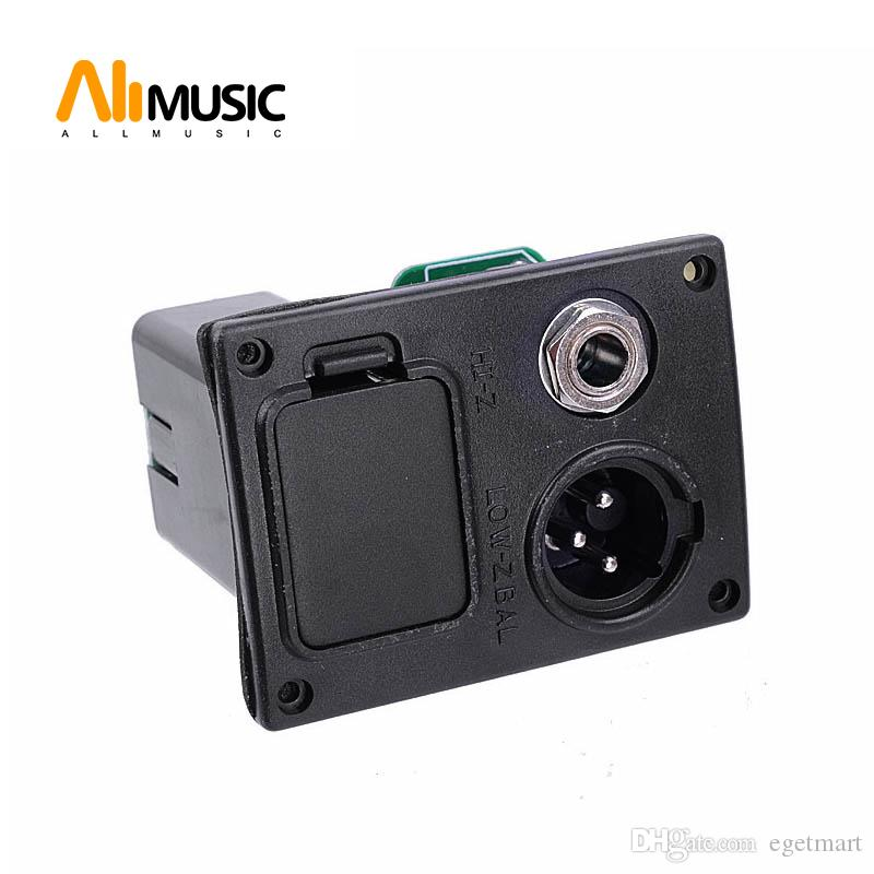 10pcs 9V Battery Boxs/Holder/Case With Connector Plug & 4 Pin Socket & Contacts & Output jack for Acoustic Guitar Equalizer EQ