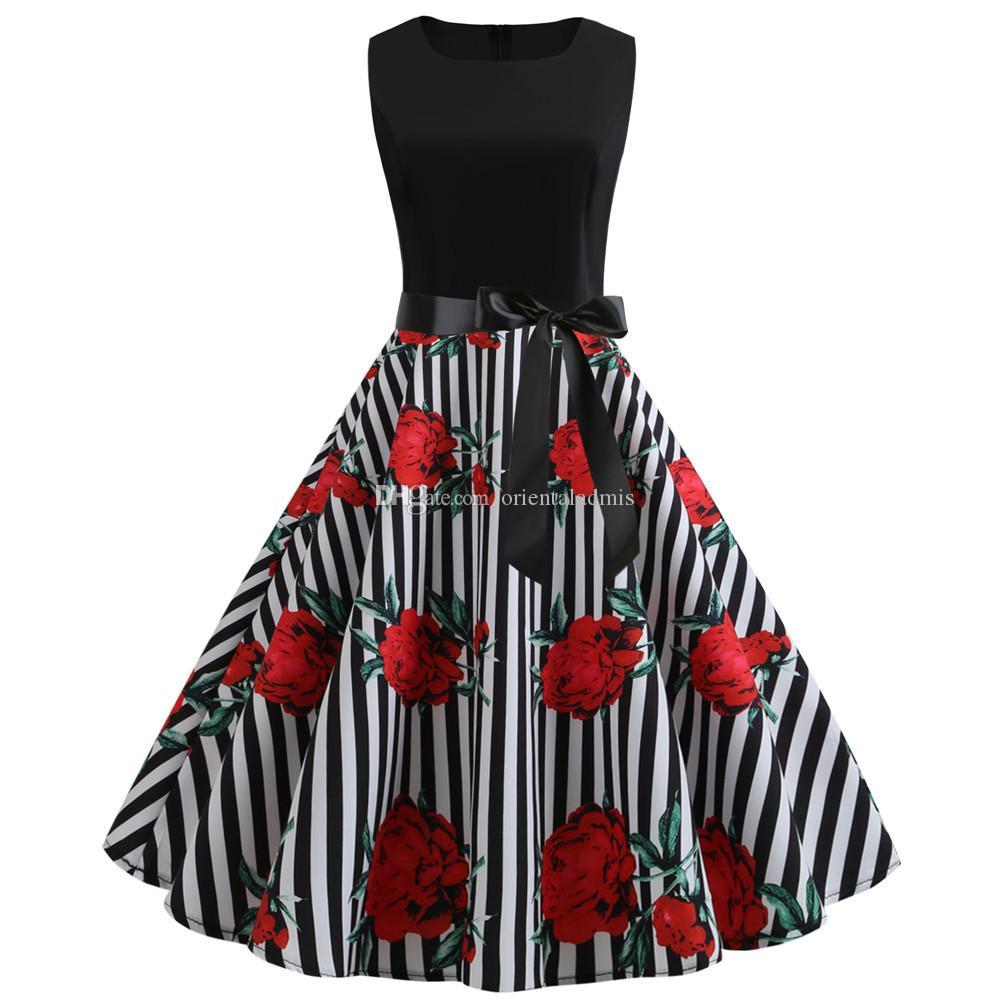 # Jy13436 grossist damer sommar kläder flora digitala utskrift o-nacke ärmlös tillbaka dragkedja kvinnors kausal party klänningar