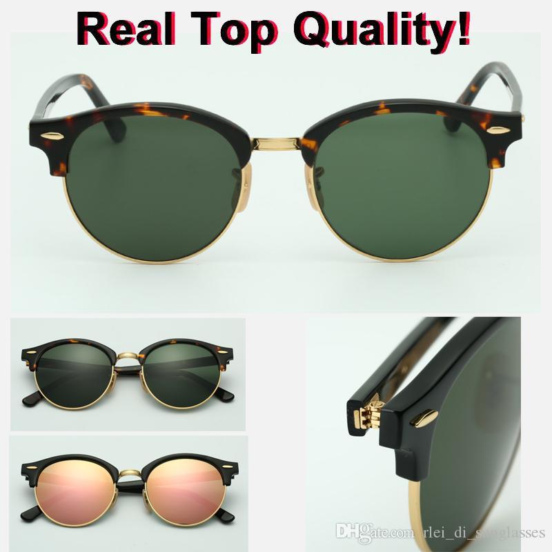 Retro Femmes Design Lunettes Nouveaux Designer Sunglasses Marque Flash Flash Verre 4246 Top Soleil Lens avec 51mm pour homme Gafas UV400 Original Boxe Kips
