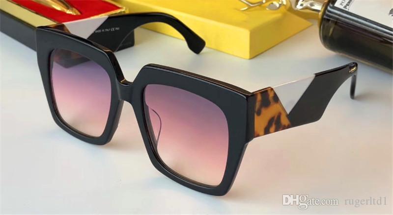 qualité supérieure nouveaux style simple de vente populaire cadre carré des femmes de créateurs de mode 0263 de lunettes de protection UV400 avec boîte d'origine