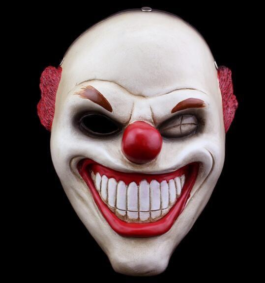Halloween jogo máscara nariz de palhaço vermelho máscara de resina periférica máscara pendurada maskWL1065 vermelho net
