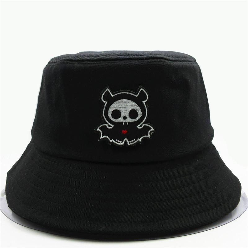 Cartoon fantasma ricamo del cotone della benna Cappello pescatore corsa esterna Sun Cap cappelli per gli uomini bambini Donne 53