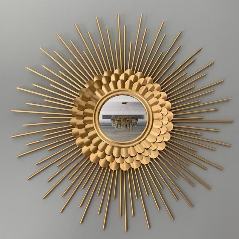 جولة الديكور مرآة النظارات الشمسية للجدار ديكورات المطعم جدار مرآة الحديد المطاوع الديكور الخلفية