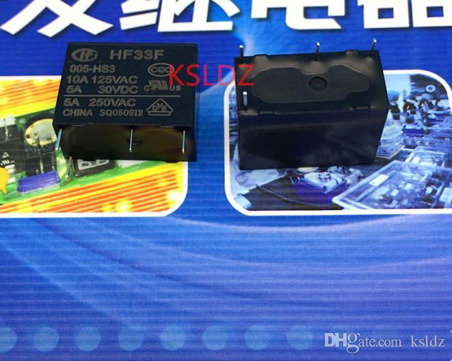 Ücretsiz kargo lot (5 adet / grup) 100% Orijinal Yeni HF33F-005-HS3 5VDC HF33F-012-HS3 12VDC HF33F-024-HS3 24VDC JZC-33F 5A 4 PINS Güç rölesi