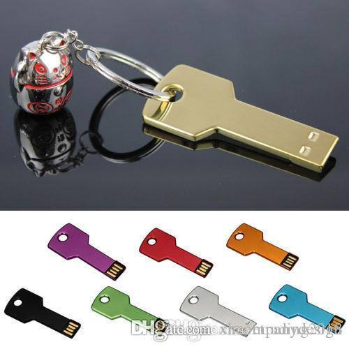XH 4GB 8GB 32GB 64GB Key Pen Drive Memoria USB-Memory-Metall llavero U-Disco-Blitz