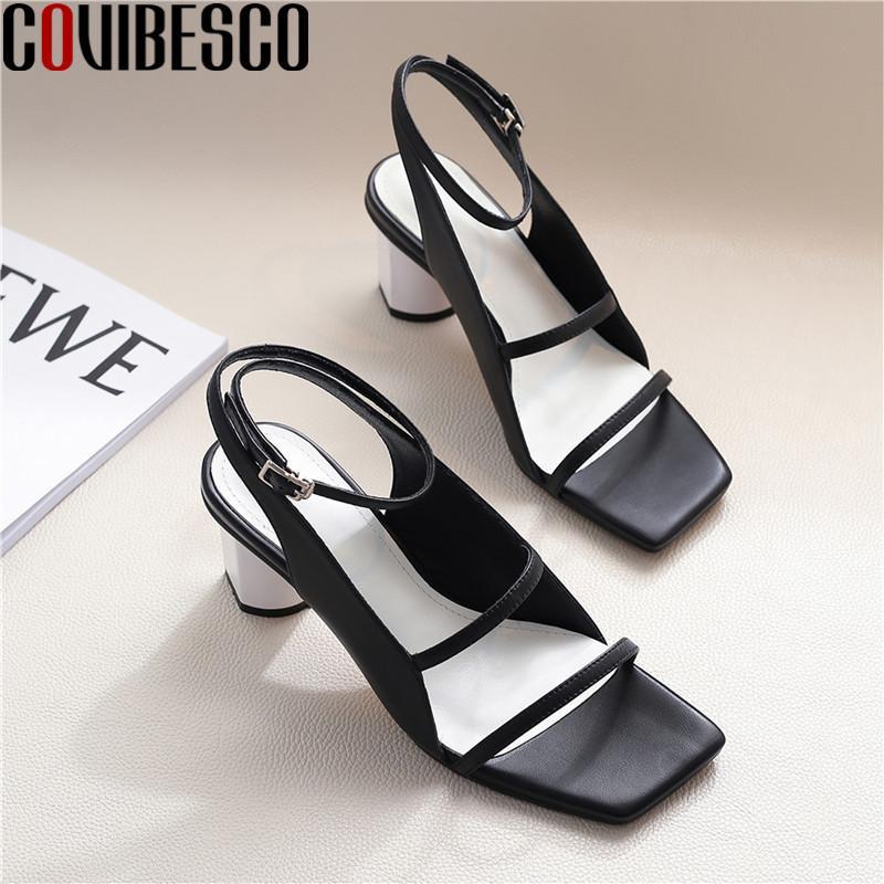 COVIBESCO 2020 лето осень натуральная кожа сандалии для женщин Вернуться Zipper высоких каблуках Насосы самые новые партии танцевальную обувь женщина