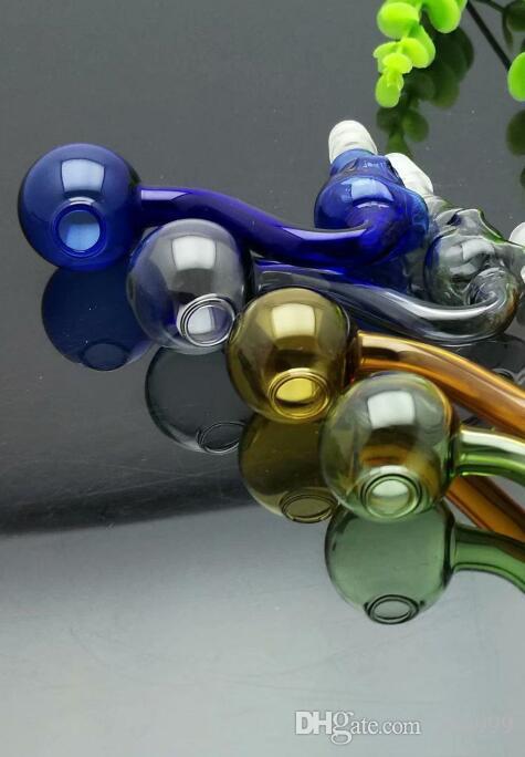 Neue 18mm männlich Farbige Schädel Glasbrenner Großhandel Bongs Ölbrenner Rohre Wasserpfeifen Glasrohr Bohrinseln Rauchen Frei