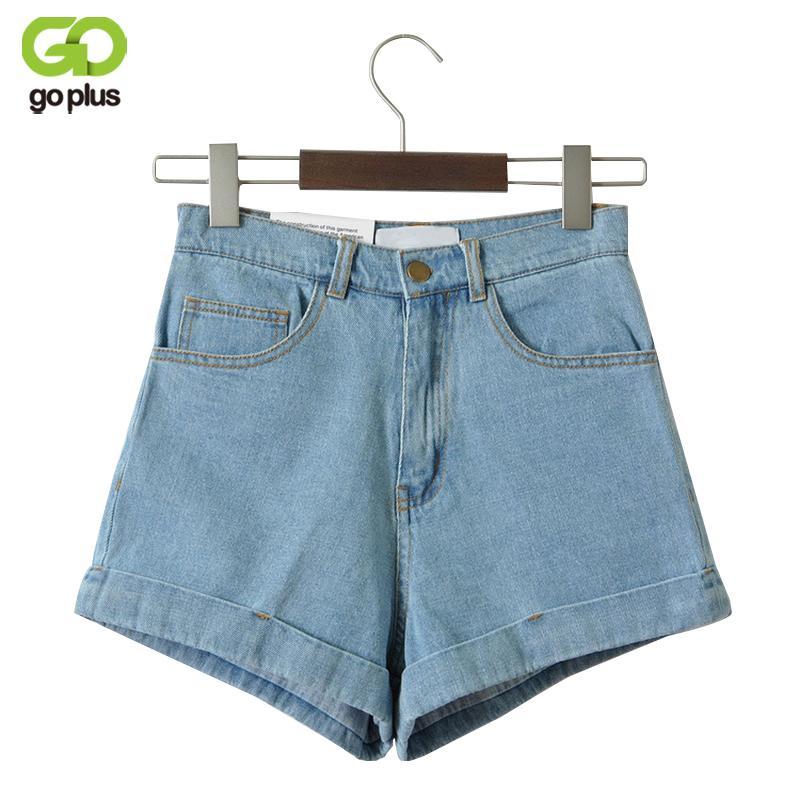 Goplus Taille Haute Pour Vintage Sexy Marque Jeans Femmes Short En Jean Feminino Slim Hip Plus La Taille C3627 Q190517