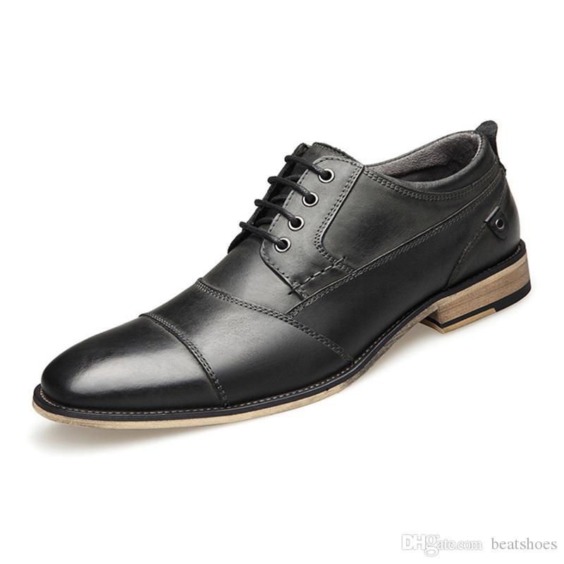 Männer kleiden Schuhe Modedesigner Business Schuhe Hohe Qualität Echtes Leder Loafers Gentleman Work Party Hochzeit Schuhe Big Size US7.5-13