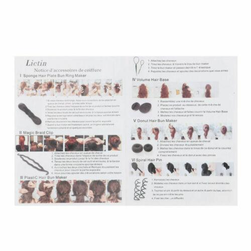 71Pcs//Set Hair Styling Accessories Clip Bun Maker Hair Twist Braid Ponytail Tool