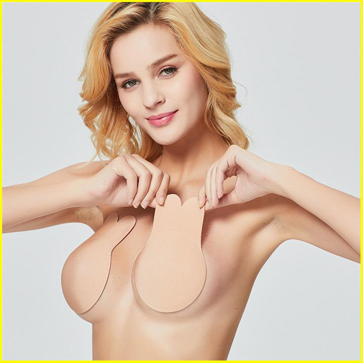 2020 autoadesivo Push Up Bra fina de silicone Invisible Bra Capuz Etiquetas Underwear Wedding Party Seamless Bikini Strapless Bra Pad