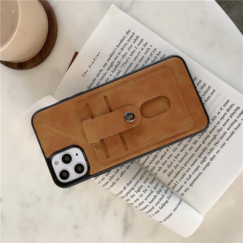 One Piece luxury phone case For iPhone 7 8P XR XS MAX 11PROMAX fashion Leather Card Pocket designer back cover for gifts