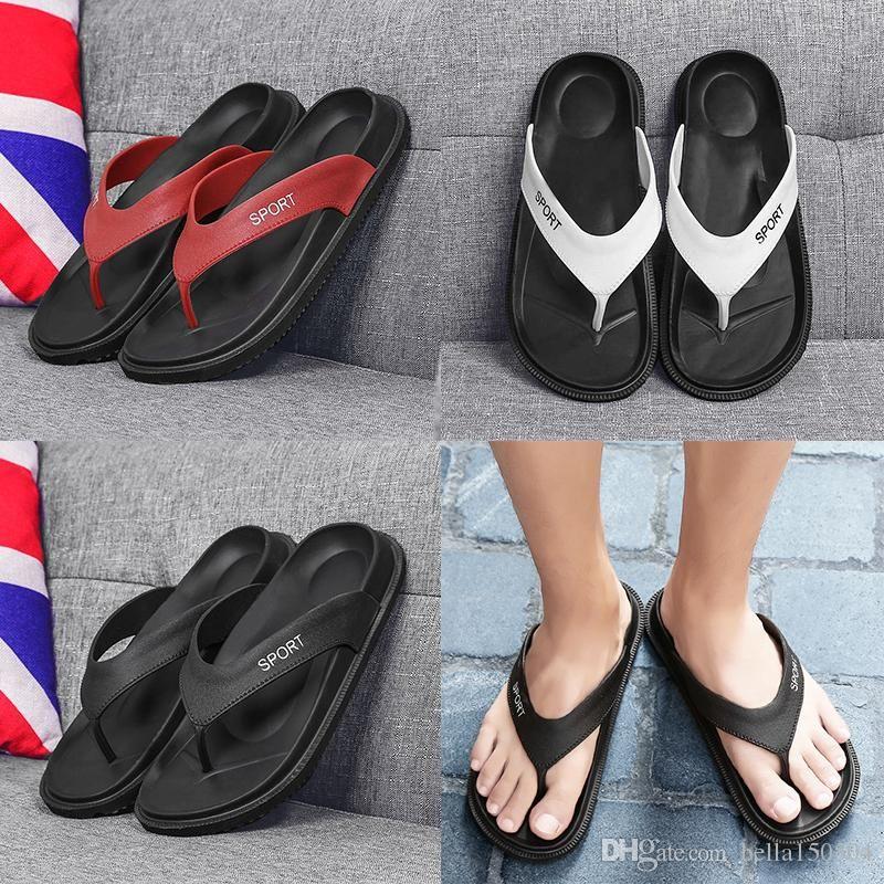 gute Qualität Designer Sandalen brandneue Sommer Männer Flip-Flop Strand Pantoffel Schuh-Breathable Strand Pantoffel EVA Lässige Massage Slipper