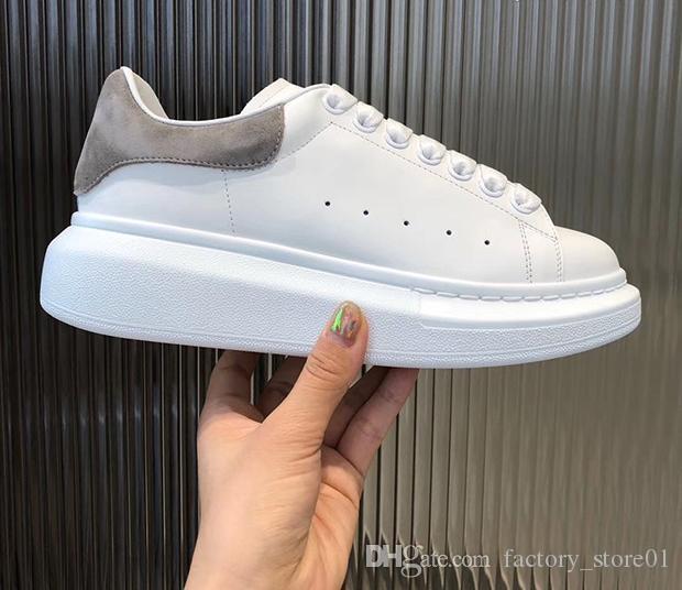 Мужчины Женщины Повседневная обувь Мода кроссовки Шнуровка Полуботинки Дешевые Лучший серый замша платформы Sneaker