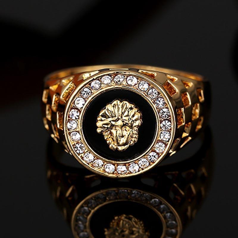 Горячие продажи мужская топ кольцо мода хип поп голова Медуза золотой цвет серебряный черный мужчины палец кольцо для мужчин женщин