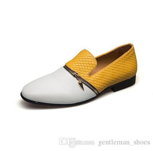 Novos homens da moda mocassins Handmade Confortável Quinceanera Prom Sapatos Casuais dos homens sapatos oxford tamanho grande: EUA 7-EUA 12 593
