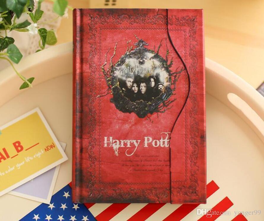 مذكرات هاري بوتر القديمة Retro paper Magic Diary Book Notepad Magnet Notebook Office supplier student paper notebooks epacket