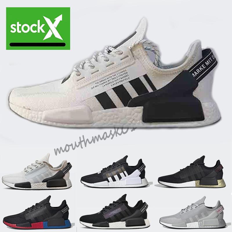 Running Shoes NMD R1 V2 des Chaussures Core para hombre Blanco Negro og Bred oro metálico Triple Hombres Mujeres Deportes diseñador zapatillas de deporte Tamaño 36-45
