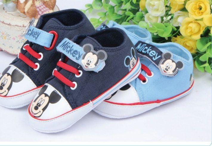 Baby-Leinwand Erster Wanderer Karikatur-Baby-Sole-Schuhe Sohle Kleinkind für Säuglings- Leinwand Nonslip Schuhe Schuhe 0-18M Sneaker