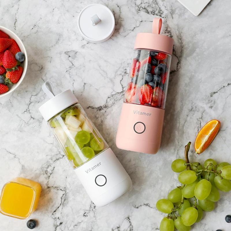350ml Mini extracteur de jus Portable 4 USB Lame de charge Juicer bouteille Sports de fruits maison légumes glace viande Mixer