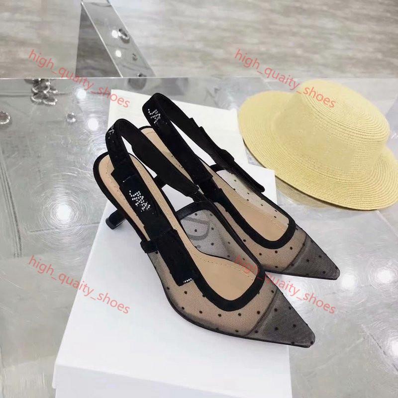Dior sandals 2020 nouveaux talons sandales femmes de mode Design Tissu Mesh matériau en cuir Xshfbcl taille de la boîte originale 35-42