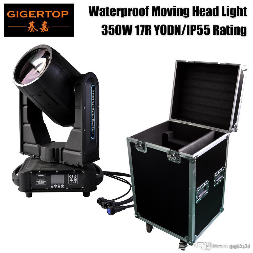 Straße Hard Case 1-IN-1-Pack 350W Wasserdicht bewegliches Hauptlicht Sharpy Strahl Stadiums-Effekt-Ausrüstung YODN 17R Lampe Gobo / Farbrad