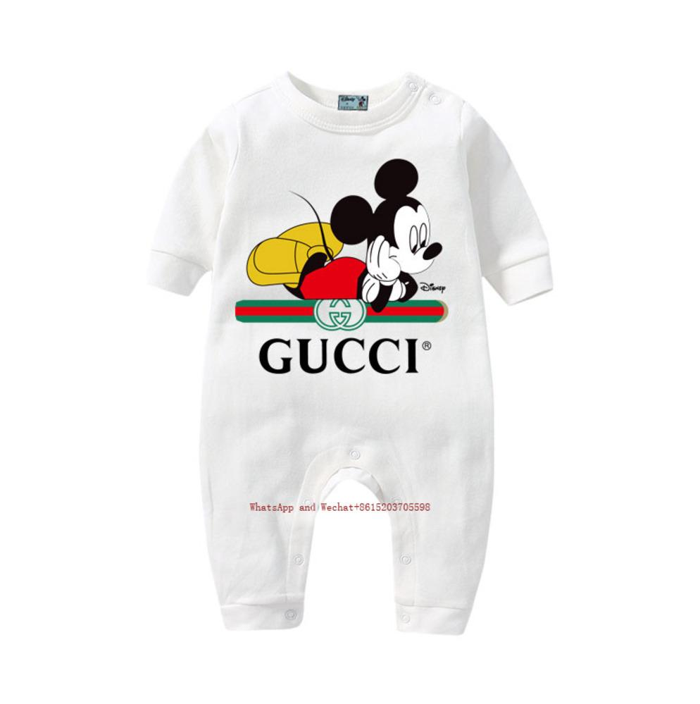 Новый новорожденный комбинезон новорожденных девочек высокое качество печатных ползунки хлопок Детская одежда 031615