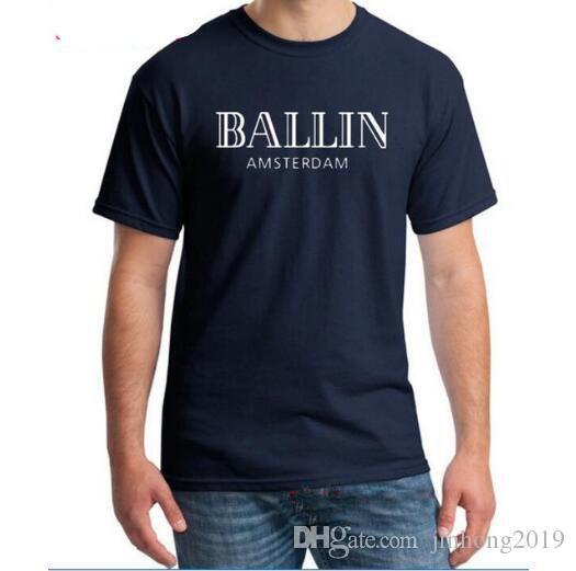 meilleur expédition de nouveaux vêtements pour hommes O-Neck Ballin AmsterdamGraphicUnisexShort