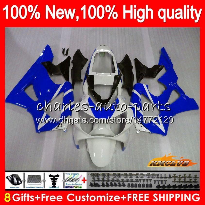 Bodys para Honda CBR900RR blanco azul CBR929 CBR900 RR 900RR 2000 2001 76NO.40 CBR 929RR 900 929 RR CC 900cc 929CC CBR929RR 00 01 carenados