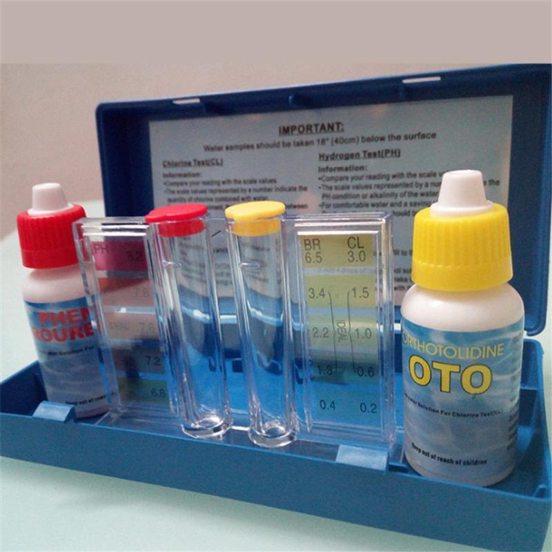 1 Set PH Chlorine Water Quality Test Kit Hydrotool Testing Kit Accessories for Swimming Pool Popular