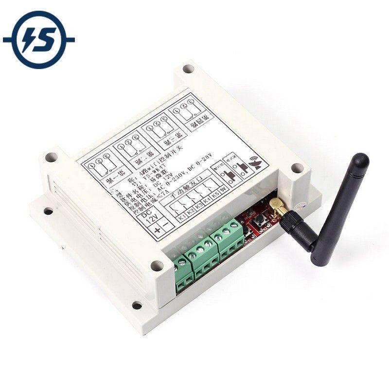 Dc 9-38 فولت wifi التتابع التبديل متعدد القنوات الهاتف المحمول شبكة التحكم عن وحدة التتابع مع هوائي لاسلكي المنزل الذكي wk4 freeshipping