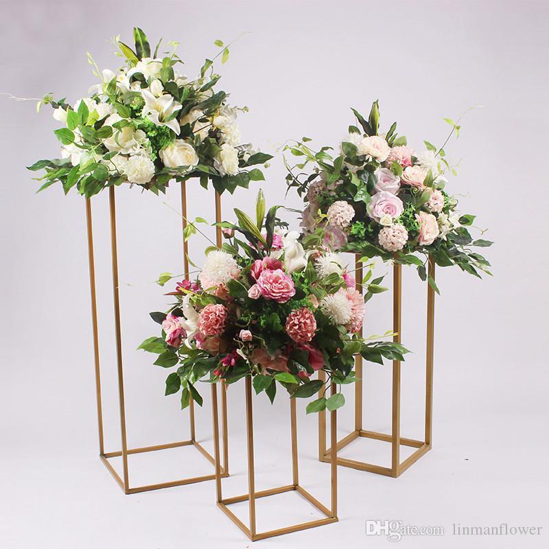 Nueva Mori Wedding Road Inducción Flor Arte Seda Artificial Decoración Del Banquete de Boda Ventana Arreglo Freeshippi
