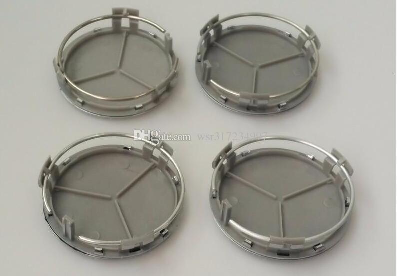 Hot vente 75mm Hub Car Wheel Cover Centre Cap Logo Emblem Pour trois branches étoiles W203 W210 W211 AMG W204 C E S CLS CLK SLK CLA CLASSE