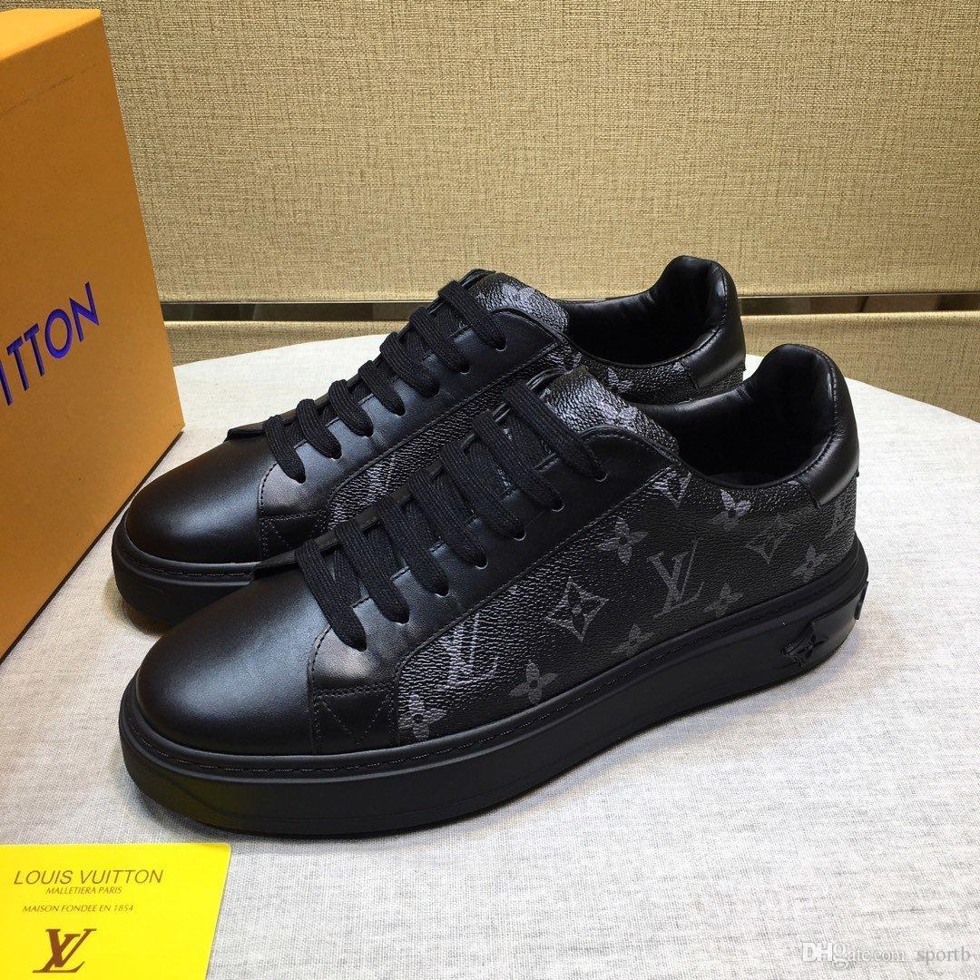 Louis vuitton 2019 A4 Hochwertige Mode Freizeitschuhe der Männer gut aussehende Outdoor-Sport wilder Luxusschuh original Box-Verpackung Zapatos Hombre