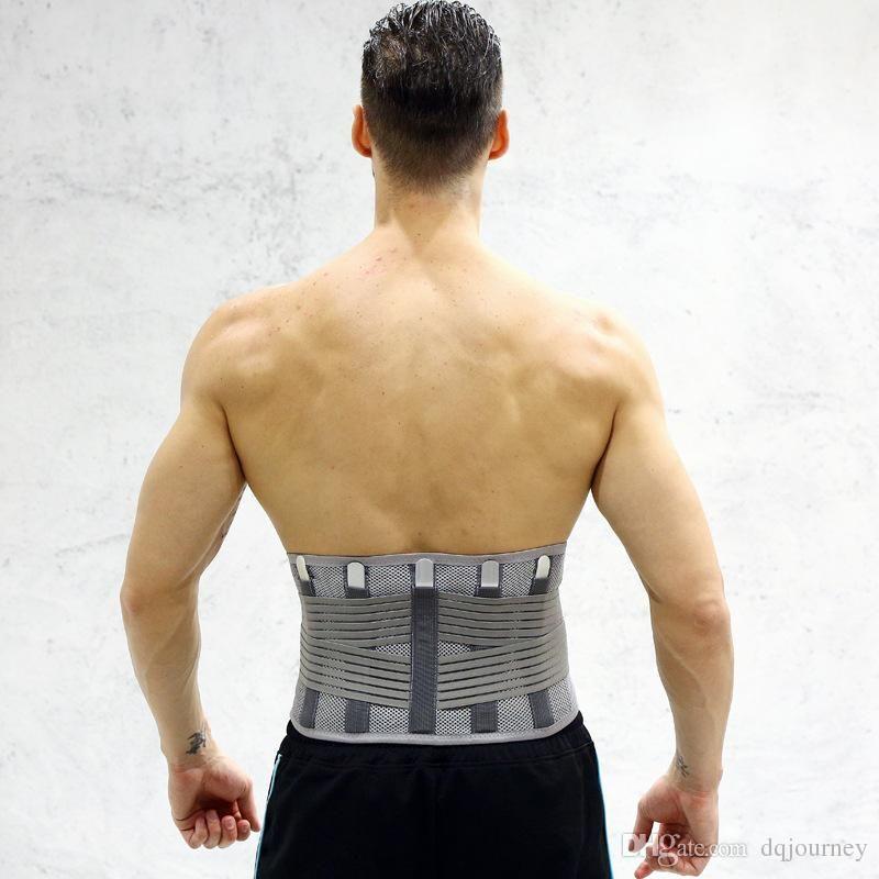 Cintos Suporte cintura lombar Corset Belt Famoso elástica respirável lombar Brace recuperação de apoio para a cintura instrutor Corset Mulheres Homens
