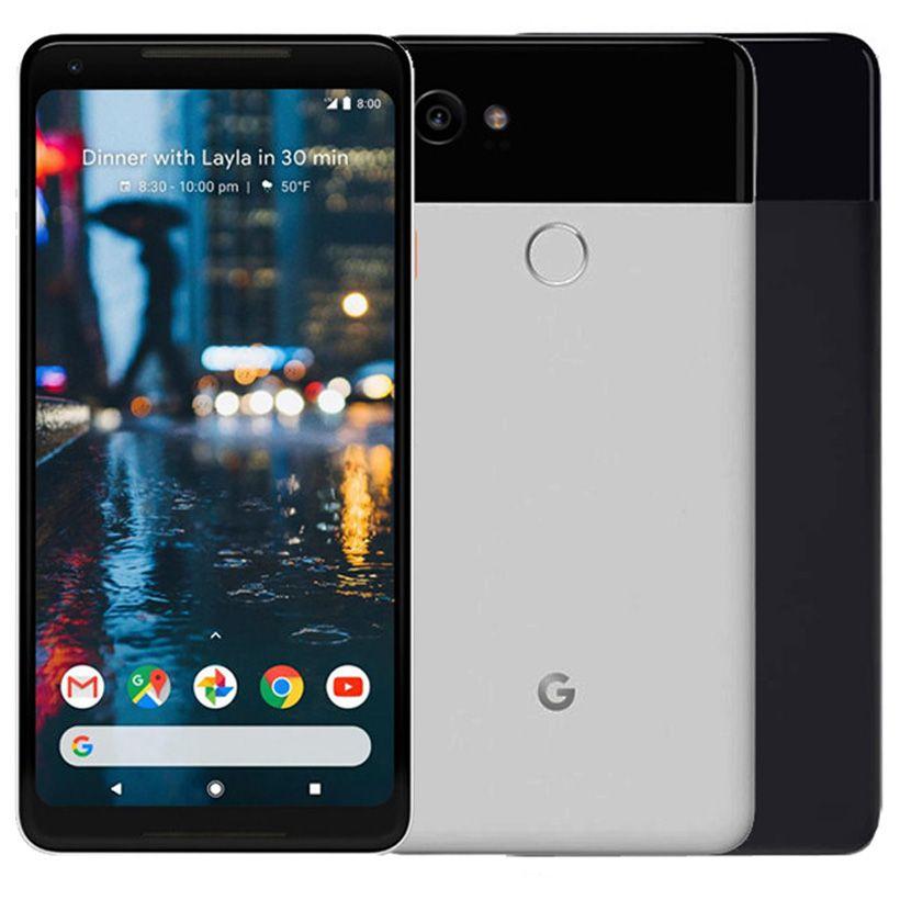 Refurbished Original Google Pixel 2 XL 6.0 inch Octa Core 4GB RAM 64/128GB ROM Android 8.0 Unlocked 4G LTE Smart Cell Phone Free DHL 1pcs