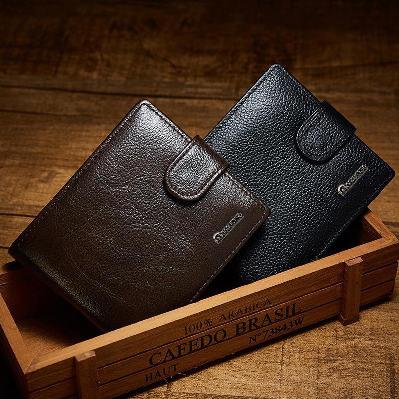 Lüks Gerçek Deri Cüzdan Erkek Marka Vintage Çanta Fermuar Para Pocket Erkek Cüzdan Deri Hakiki Erkek Debriyaj Carteira W205