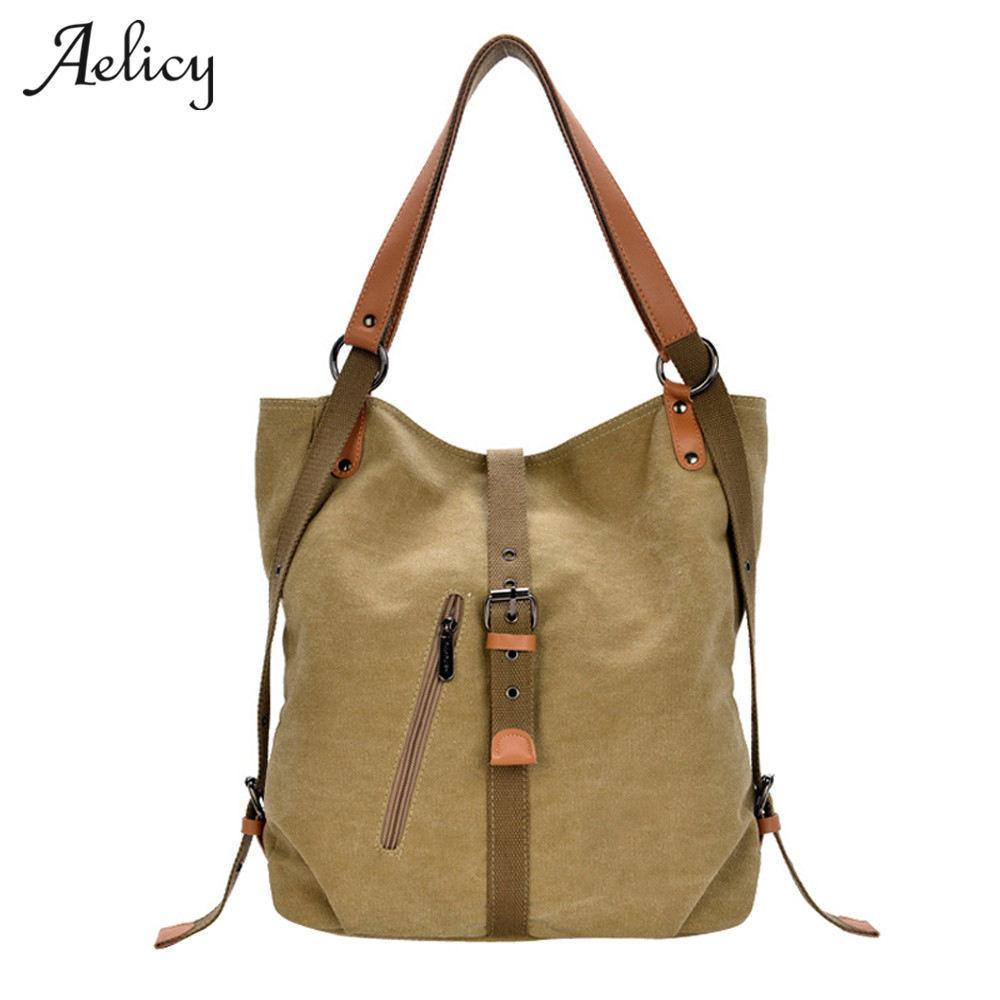 Aelicy New Canvas Women Handbags Famous Brand Retro Vintage Messenger Bag tracolle per donna J190616