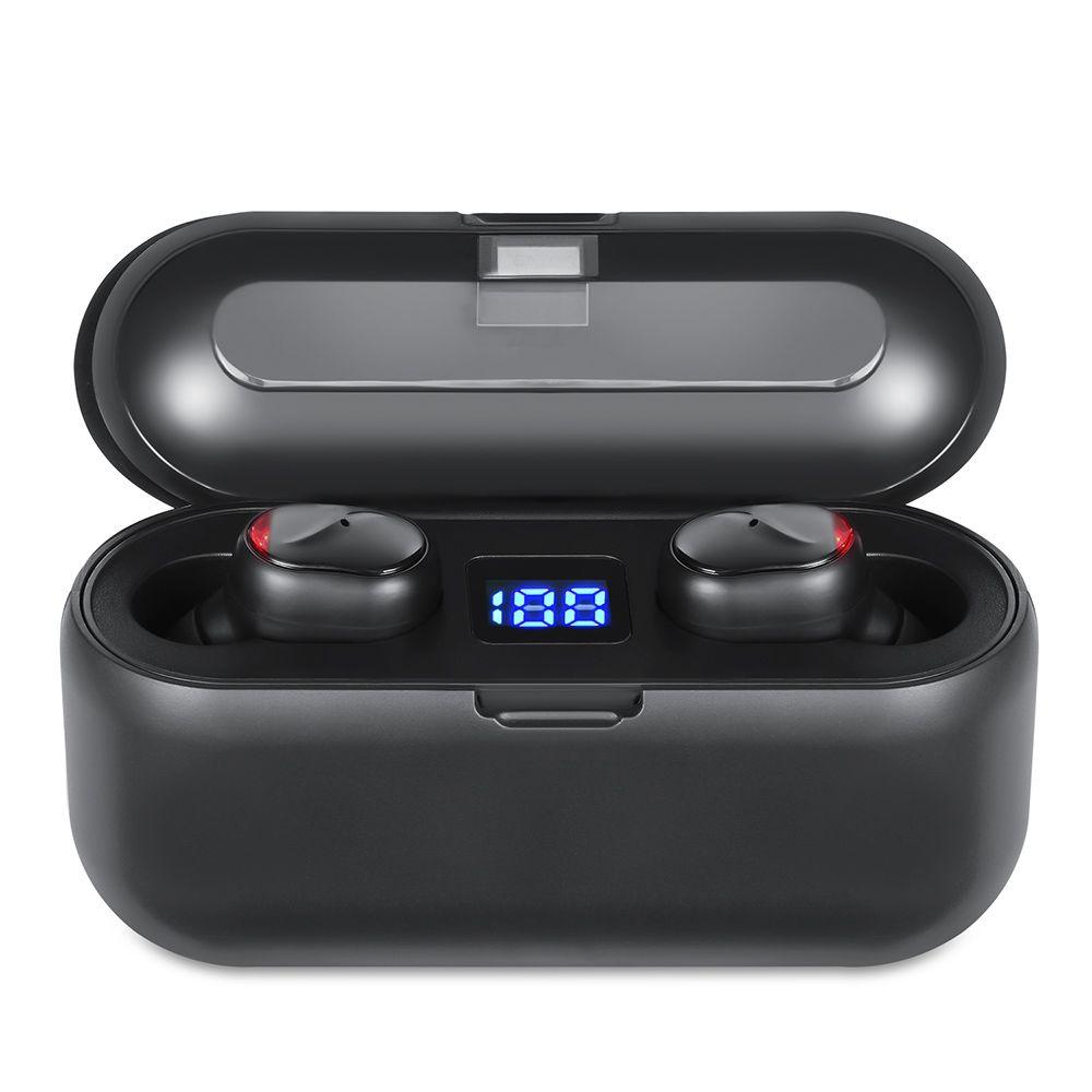TWS بلوتوث اللاسلكية 5.0 سماعات الأذن سماعات ستيريو هاي فاي باس سماعة الصوت IPX5 سماعات الرياضة مع الشحن صندوق العرض LED