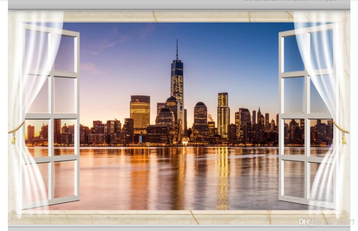 3d Wallpaper Custom Photo Silk Mural Wall Paper 3d Windows New