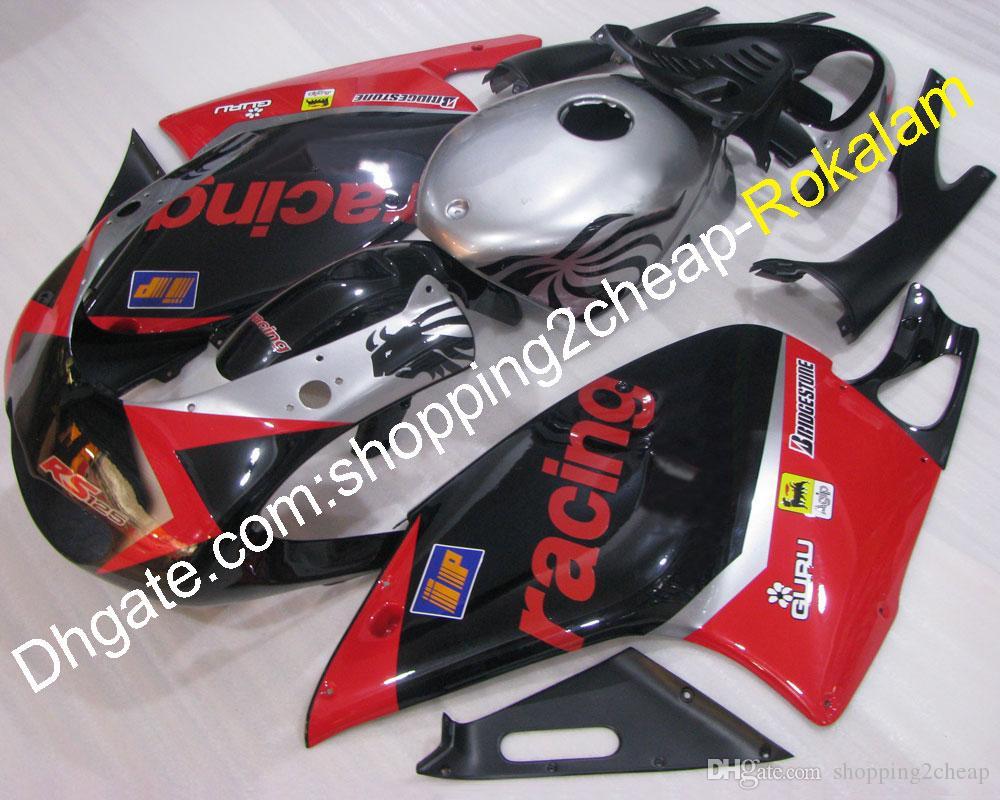 RS125 Moto Bodywork Part for Aprilia Fairing Set R S RS 125 2001 2002 2003 2004 2005 Racing Red Black Motorcycle Aftermarket Kit