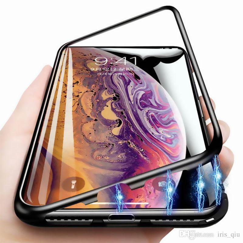 360 металлических корпусов Магнитный конструктор телефона для телефона чехлы для iPhone 11 случае ХС хз Макс 6 7 8 6С плюс двойная сторона закаленное стекло крышка coque
