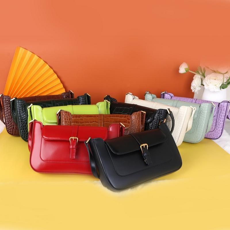 koltukaltı çanta Retro deri 2020 bej niş timsah desen bayanlar moda deri omuz çantası baget byfar Sıcak