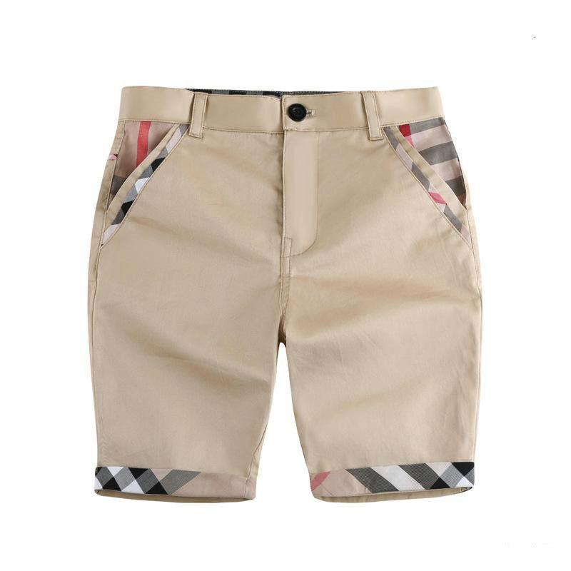 패션 키즈 캐주얼 반바지 여름 통기성면 아기 바지 소년 패션 격자 무늬 인쇄 보이 반바지 아기 의류