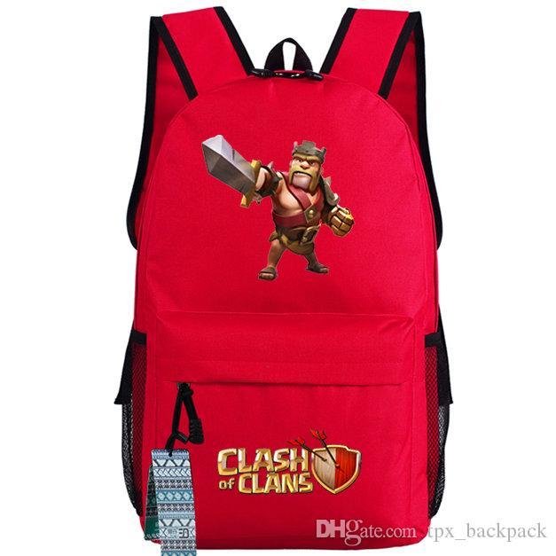 أحمر على ظهره البربري حزمة يوم الملك لون الصورة لعبة حقيبة مدرسية لطيفة packsack طباعة حقيبة الظهر الرياضة المدرسية daypack في الهواء الطلق
