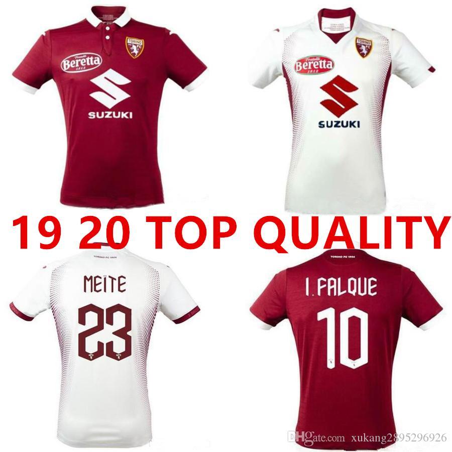 2019 2020 Torino FC Soccer Jerseys 9 BELOTTI 10 FALQUE 5 IZZO MEITE ZAZA BASELLI NKOULOU Custom Turin Home Red Football Shirt