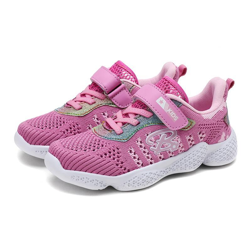 2020 Sonbahar Çocuk Ayakkabıları Erkekler Kızlar Spor Ayakkabı Nefes Bebek Sneakers Yumuşak Alt Kaymaz Casual Çocuk