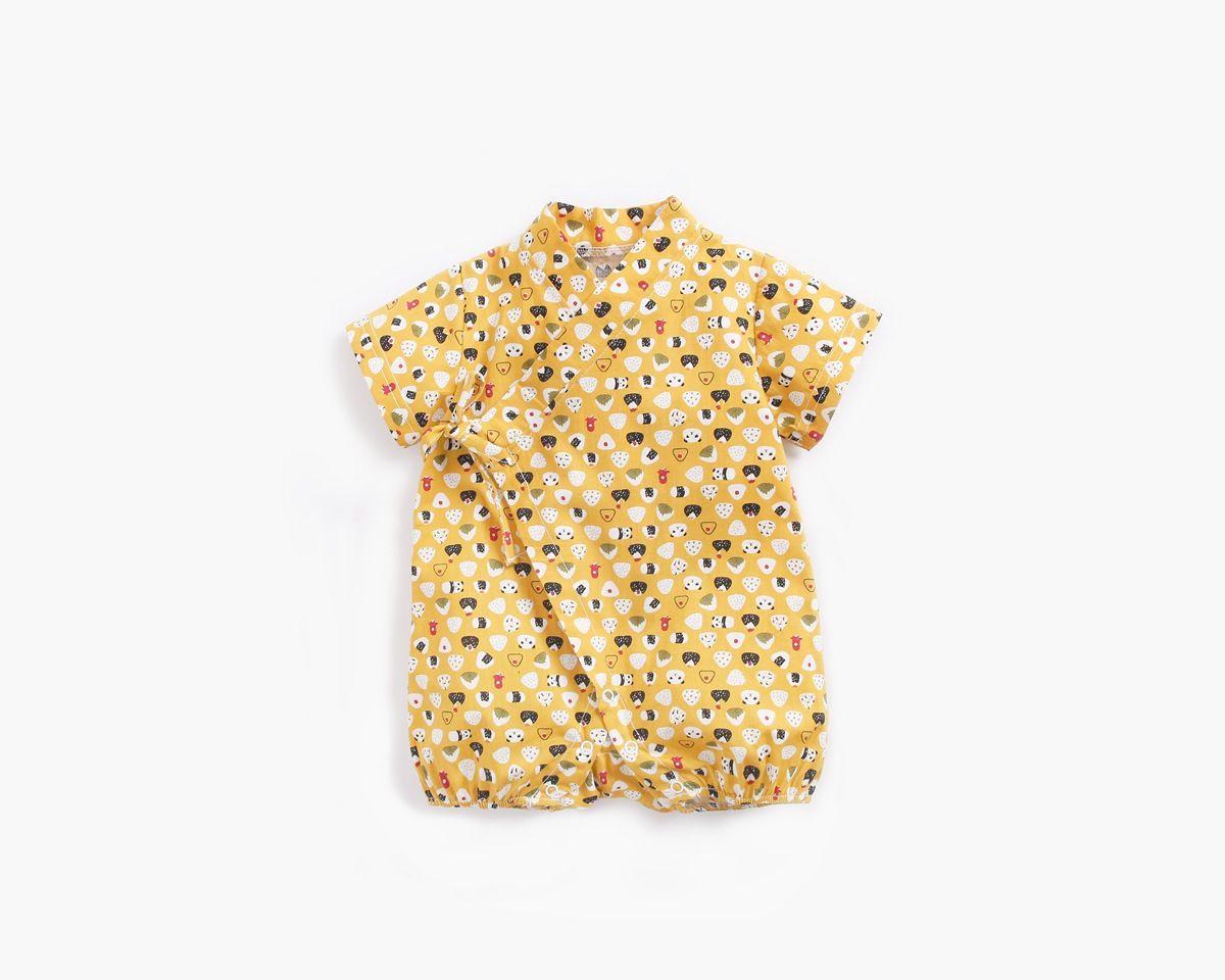 Bebek Çocuk Tasarımcı Giysi Romper Yaz Kısa Kollu Karikatür Hayvanlar Baskı Romper Giysileri 100% Pamuk Kız Çocuk Tulum 0-2T