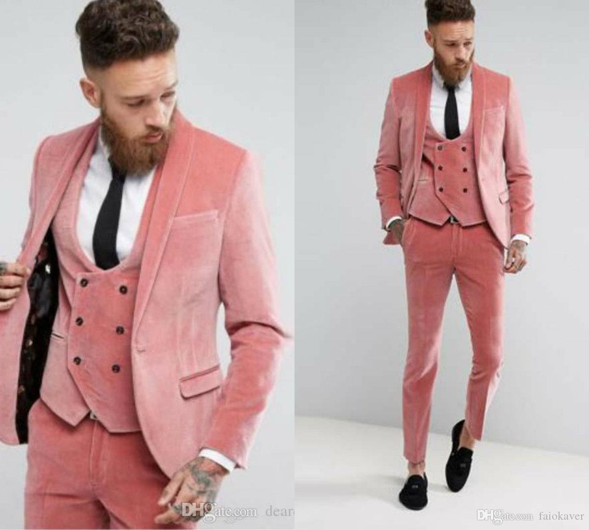 2019 New Designer Velvet Fashion Groom Wedding Dress Slim Fit Formal Men Suits Tuxedo Coat Prom Dress Jacket Vest Pants Tux Tail White On Black Tuxedo From Faiokaver 79 45 Dhgate Com